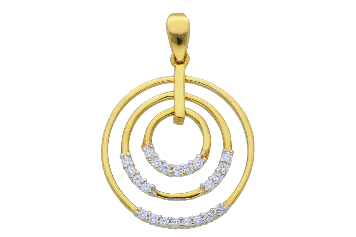 Medalioane aur 14K galben forma geometrica