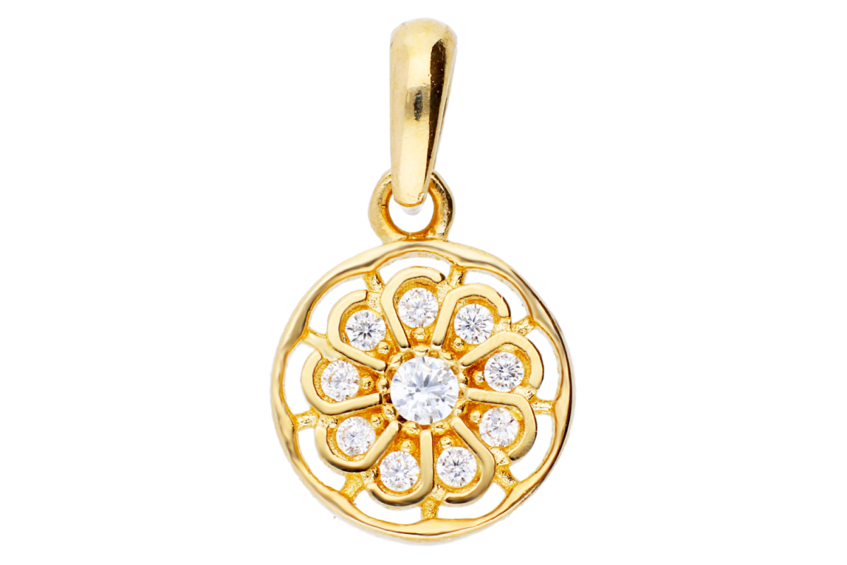 Medalion aur 14K floricica