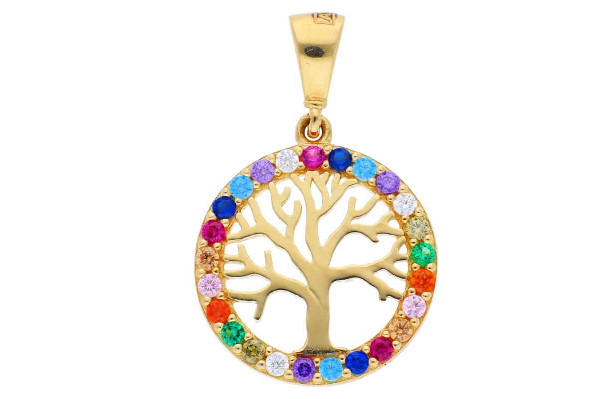 Medalion aur 14K pomul vietii