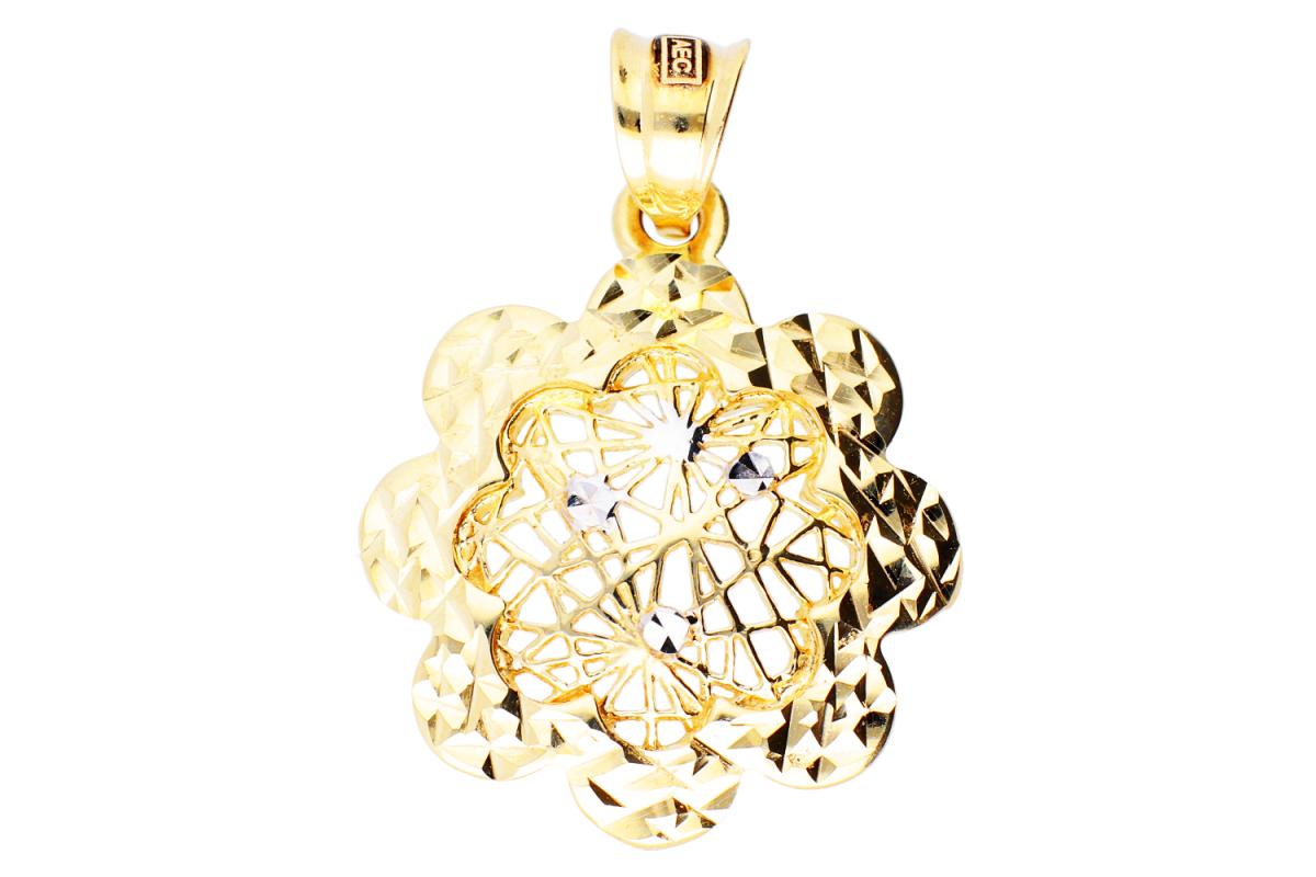 Medalion din aur14 floricica