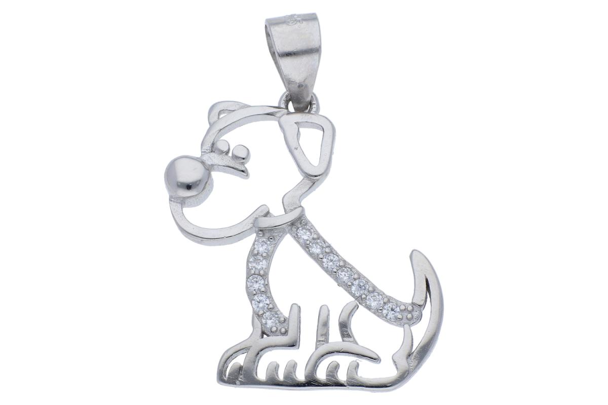 Pandantiv argint catelus