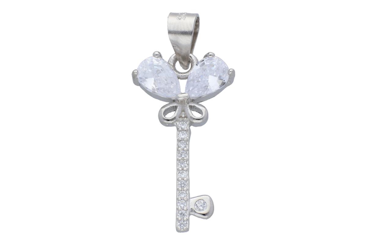 Pandantiv cheita fluturas bijuterii argint