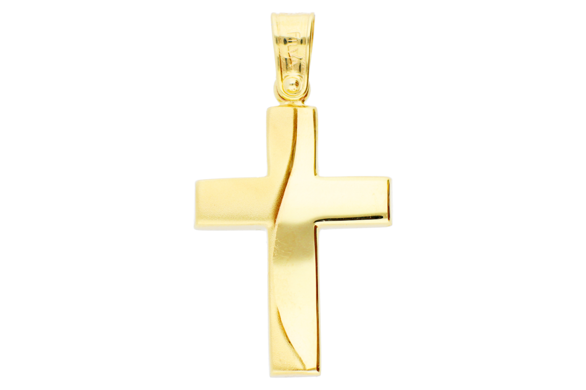 Pandantiv cruciulita bijuterii aur 14k