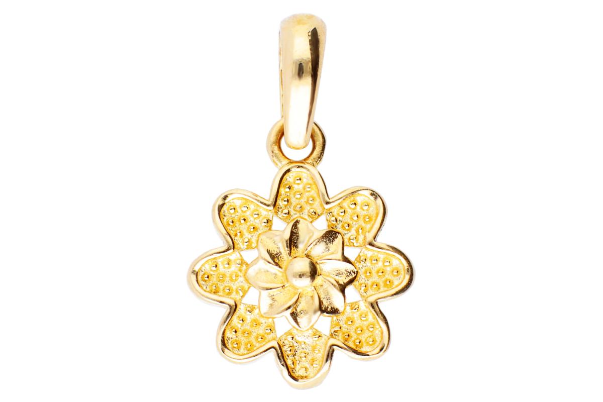 Bijuterii aur online - Pandantive din aur 14K galben floricica