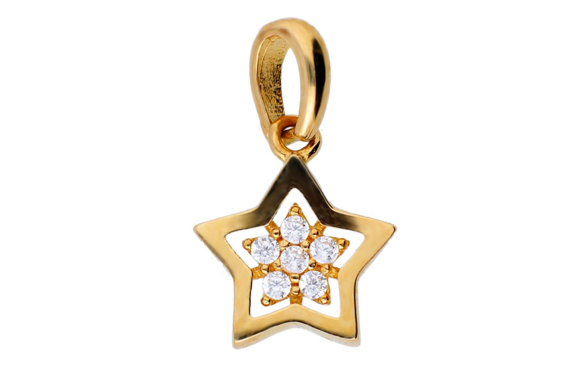 Bijuterii aur online - Pandantive dama aur 14K galben steluta
