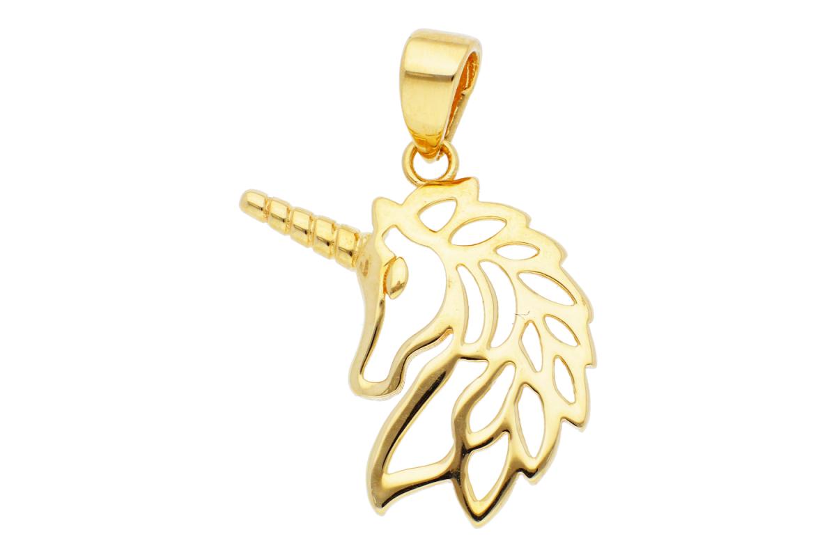 Pandantive dama din aur 14K galben unicorn