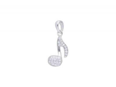 Bijuterii argint pandantiv nota muzicala