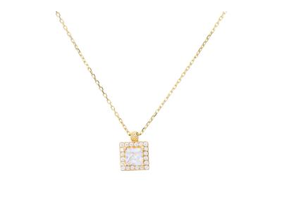 Bijuterii aur lant cu pandantiv zirconii