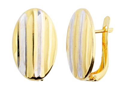 Bijuterii cercei tortite aur 14K femei