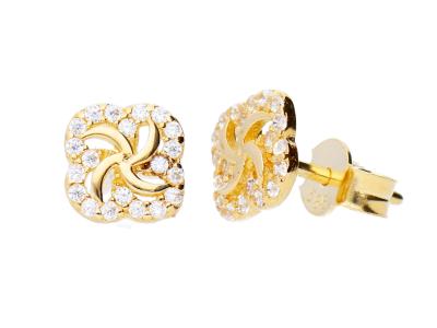 Bijuterii dama cercei cu surub aur 14K