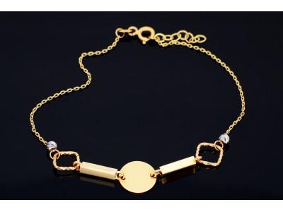 Bratara aur 14K bijuterii dama banut gravabil