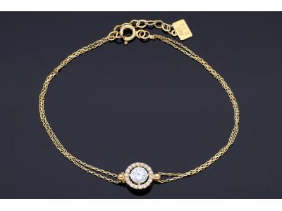 Bratara aur 14k bijuterii on line pandantiv zirconia