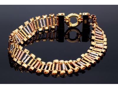 Bratara aur 3 culori bijuterii dama