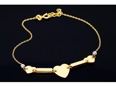 Bratara aur inimioare gravabile bijuterii femei