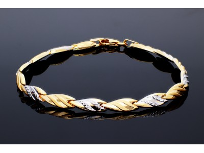 Bratara din aur alb-galben 14K bijuterii dama