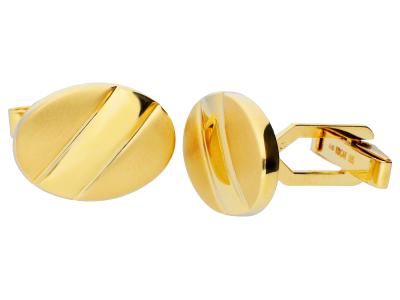 Butoni aur 14K ovali gravabili