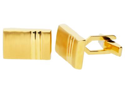 Butoni aur galben 14K dreptunghi