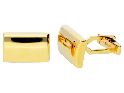Butoni din aur 14K dreptunghi gravabil