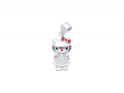 Cadou argint medalion Hello Kitty