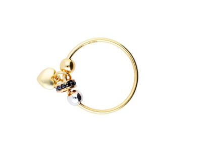 Cadouri femei inel aur 14k cu charm inimioara