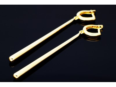 Cercei aur 14k bijuterii abstracte