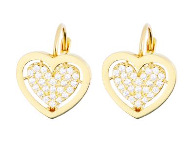 Cercei aur 14k bijuterii cadou pandant inimioara