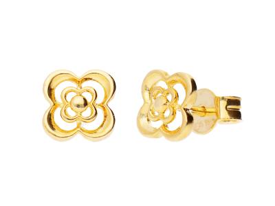 Cercei aur 14k bijuterii dama floricica