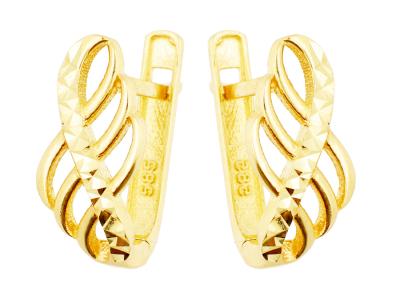 Cercei aur 14k bijuterii dama infinity