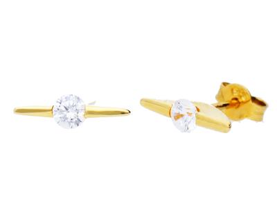 Cercei aur 14k cu zirconia bijuterii dama