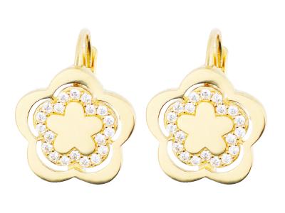 Cercei aur 14K pandant floricica