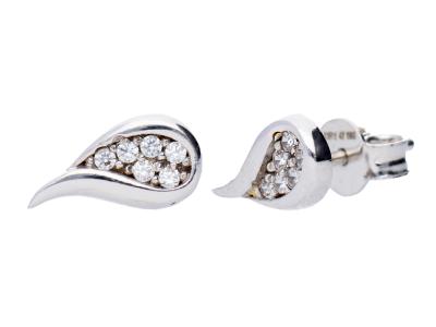 Cercei aur alb bijuterii dama