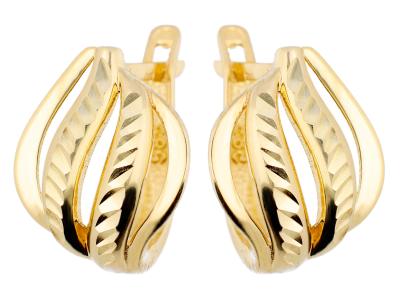 Cercei aur galben 14k bijuterii dama