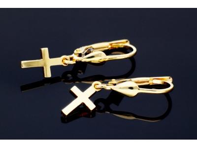 Cercei cadou aur 14k pandant cruciulita