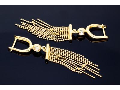 Cercei cu pandant bijuterii aur 14k