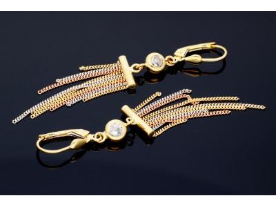 Cercei cu pandant lant cadouri bijuterii aur