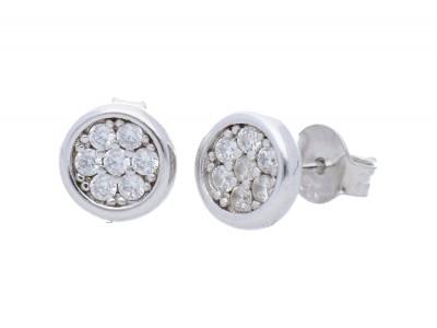 Cercei cu surub bijuterii argint