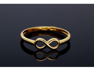 Inel aur 14K bijuterii dama infinit