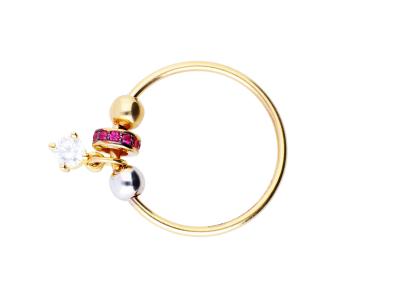 Inel cu charm cadouri bijuterii aur 14k