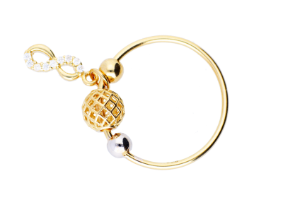 Inel cu charm infinit cadouri bijuterii aur 14k