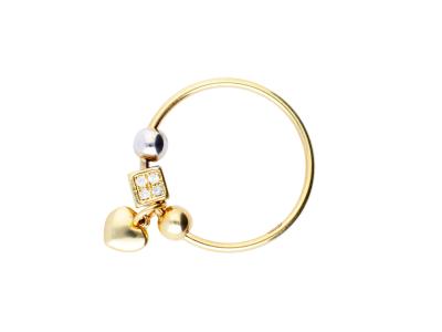 Inel cu charm inimioara cadouri bijuterii aur 14k