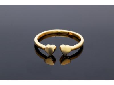 Inel din aur 14k usor reglabil cu inimioara