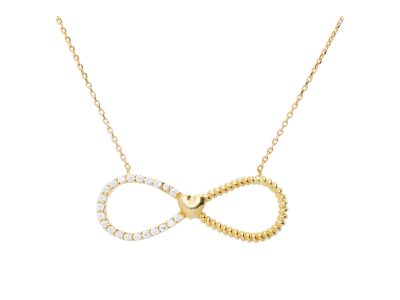 Lant aur pandantiv infinit inimioara bijuterii online