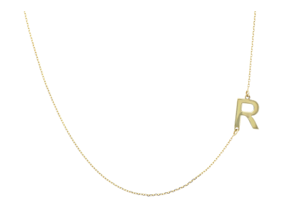 Lant cu pandantiv din aur de 14k initiala