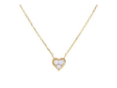 Lant cu pandantiv inimioara din aur de 14k bijuterii
