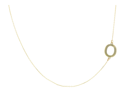 Lant cu pandantiv initiala aur de 14k