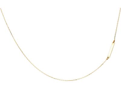 Lantisor aur 14k cu pandantiv initiala