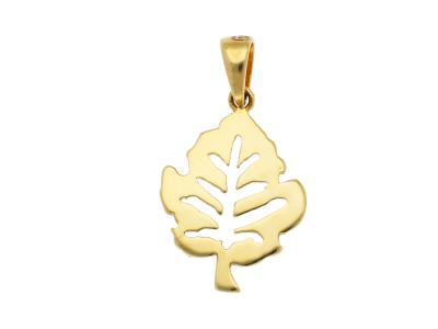 Medalioane aur 14K galben frunzulita