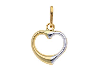 Medalioane aur 14K galben si alb inimioara