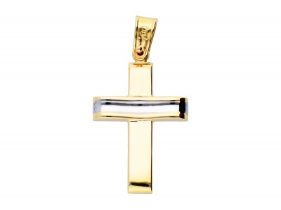 Medalion cruciulita aur 14k