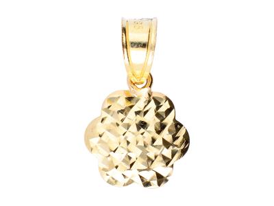 Medalion din aur 14K floricica